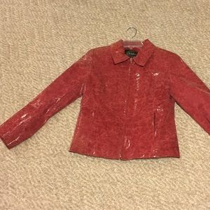 Vintage 1980's red leather jacket more pics